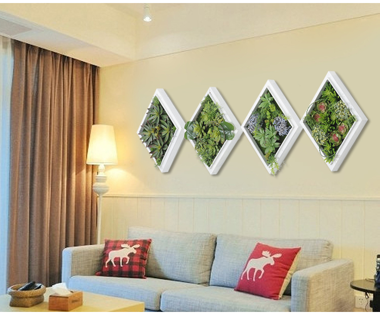 Marvelous 3D Creative Metope Succulent Plants Imitation Wood Photo Wall Hanger Artificial  Plants Home Decor Living Room Artificial Flower In Artificial U0026 Dried ...