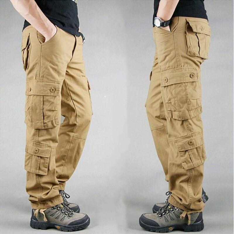 homens casuais multi bolsos tático calças militares