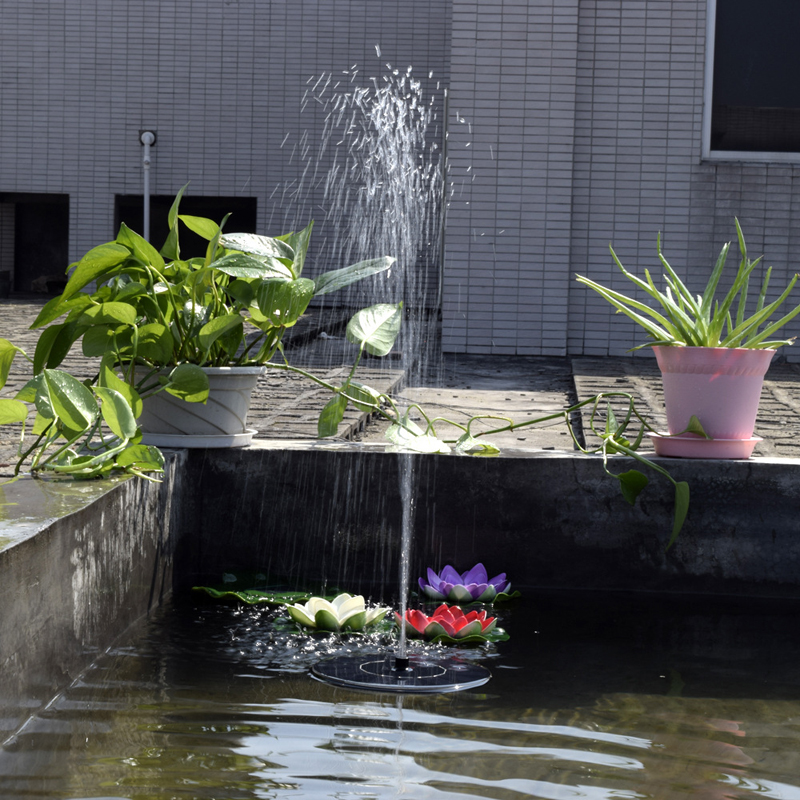 Image 5 - Hot Sale New Arrival 7V Floating Water Pump Solar Panel Garden Plants Watering Power Fountain Pool Garde Decoration-in Fountains & Bird Baths from Home & Garden