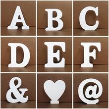 1 шт. 10X10 см деревянные буквы для Свадьбы вечерние украшения для дома Художественный Декор Letras украшения деревянные буквы Алфавит английские буквы Diy