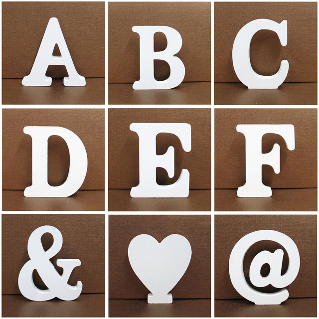 1pc 10X10CM Wooden Letters Wedding Party Decoration Home Art Decor Letras Ornaments Wood Letter Alphabet English Letters Diy 1