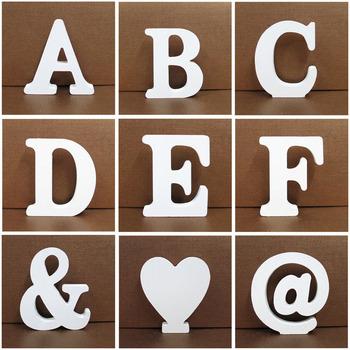 1pc 10X10CM drewniane litery Wedding Party Decoration wystrój sztuka dla domu Letras ozdoby drewna litera alfabetu angielskie litery Diy tanie i dobre opinie