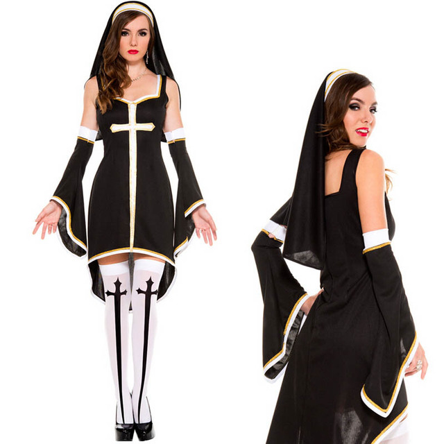 Adult Womenu0027s Sinfully Sexy Bad Habit Nun Costume Halloween Party Wear For Role Playing Size M  sc 1 st  AliExpress.com & Adult Womenu0027s Sinfully Sexy Bad Habit Nun Costume Halloween Party ...