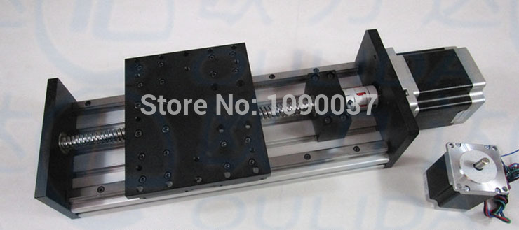 GX150 * 155 milímetros Ballscrew 1605 200 milímetros Curso Eficaz + 34 Nema Do Motor de Passo Linear Fase de Movimento Linear Moulde bloco duplo