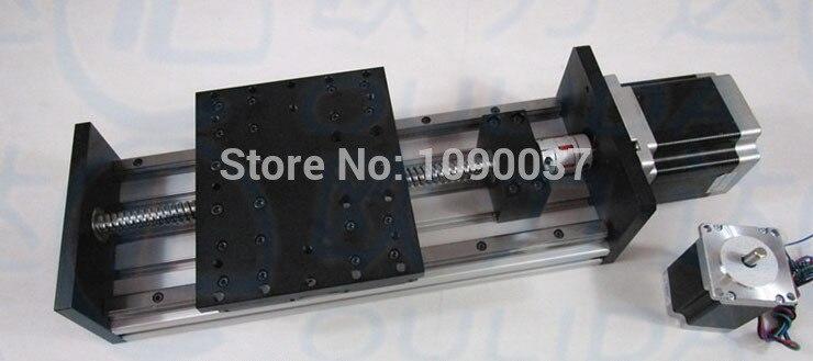 GX150 * 155mm Ballscrew 1605 efectiva 200mm viaje + Nema 34 paso a paso etapa Motor lineal movimiento fundir encendido lineal doble bloque