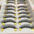 10Pair False Eyelashes Natural Cotton Stalk Eyelashes Long Black Fake Eyelashes Makeup Volume Eyelash Extensions Fake Eye Lashes