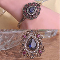 Moda conjuntos de Jóias Para As Mulheres de Alta Qualidade Turco Azul Turquia Degign Broche Vintage Jóias Pulseiras Para As Mulheres Russas