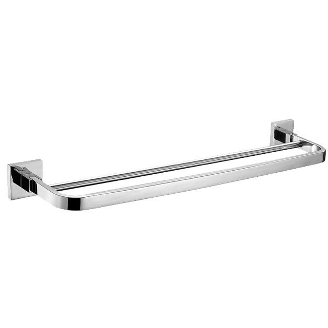 2016 Bathroom SUS 304 Stainless Steel Double Layer Towel Bar Modern High Quality Bathroom Towel Rack 60cm Length AU5000-2