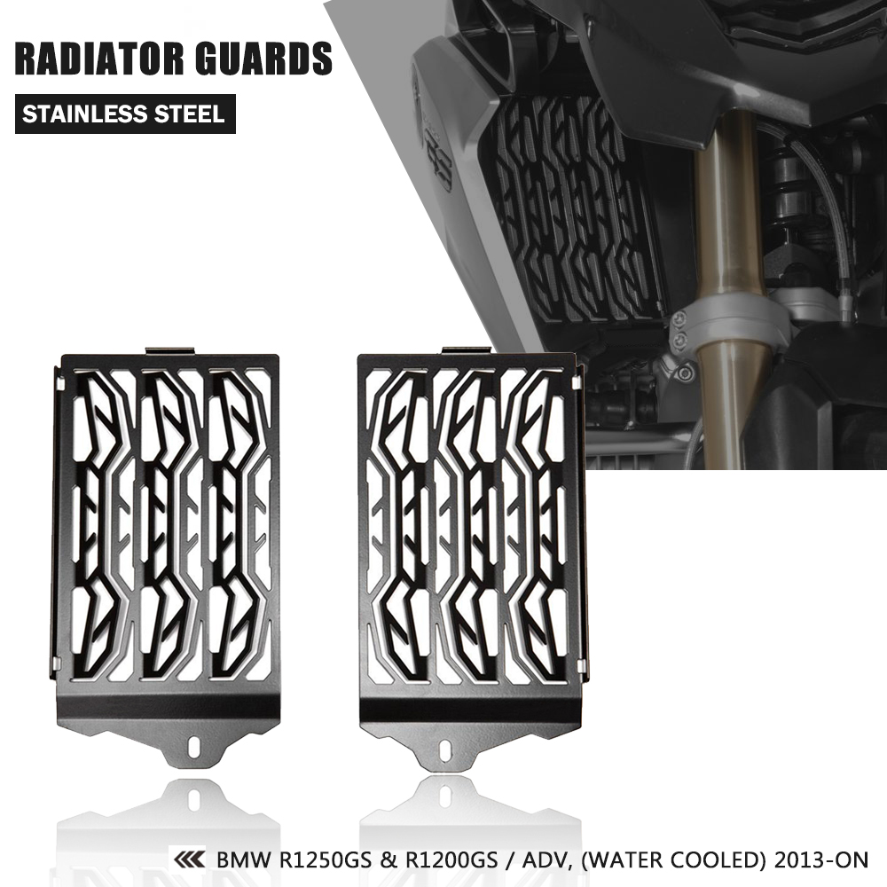 For BMW R1200 GS LC Adv R1200GSA LC Radiator Guard Protector Grille Grill Cover R 1200 GS 2013-2017 Motorcycle AccessoriesFor BMW R1200 GS LC Adv R1200GSA LC Radiator Guard Protector Grille Grill Cover R 1200 GS 2013-2017 Motorcycle Accessories