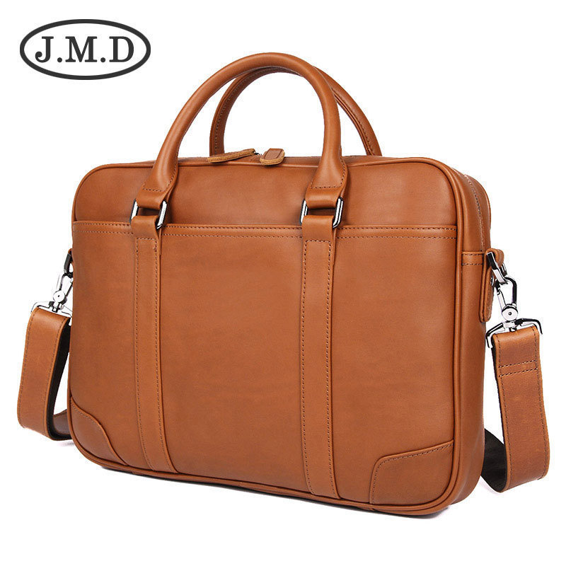 Man Genuine Leather Handbag Computer Package Business Briefcase Concise Practical Fashion New Luxury Brand Men Messenger Bag