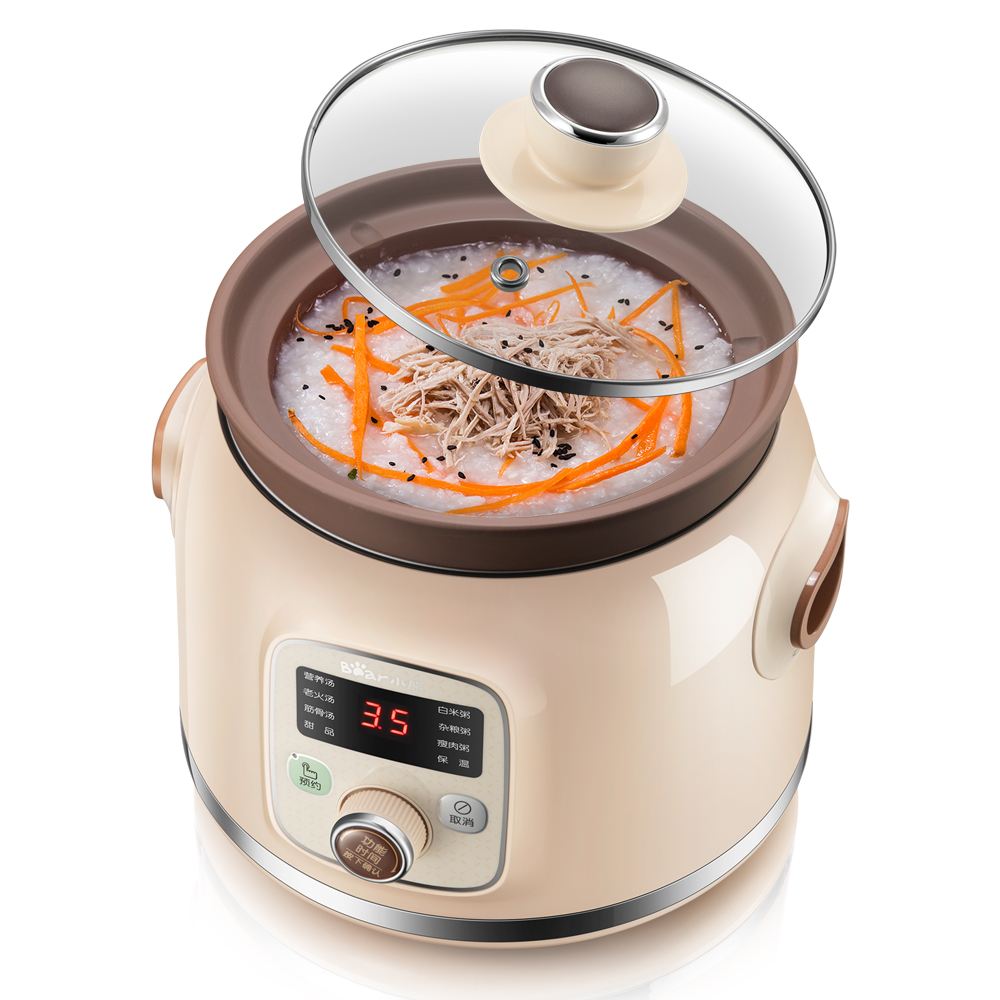 220V Household Electric Slow Stewing Pot Machine Baby Porridge Food Maker Automatic Ceramic Inner Stewing Cooker EU/AU/UK 220v household electric slow stewing pot machine baby porridge food maker automatic ceramic inner stewing cooker eu au uk