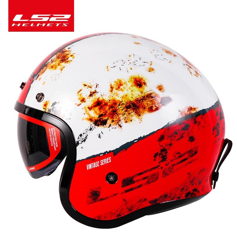 , LS2 OF599  Motorcycle 3/4 Vintage Helmets, HelmetsClub: Motorcycle Gear, Free Shipping On All Order, HelmetsClub: Motorcycle Gear, Free Shipping On All Order