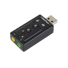 7.1 External USB Sound Card USB To Jack 3.5mm Headphone Audio Adapter Microphone Sound Card For Mac Win Computer Android Linux(China)