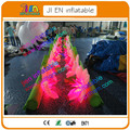 10m  long  lighting inflatable flower chain for wedding decoration/giant inflatable flower decoration