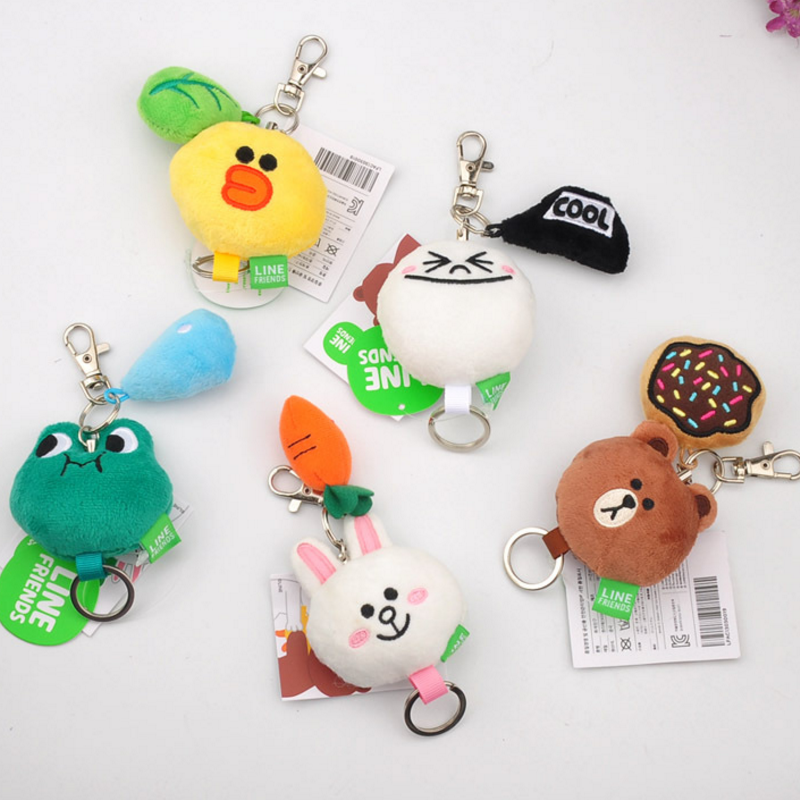 1 Pc Lovely Small Duck Bear Frogs Rabbit Plush Keychain Bag Pendant Keyring For Girls Gifts Plush Toys(China)