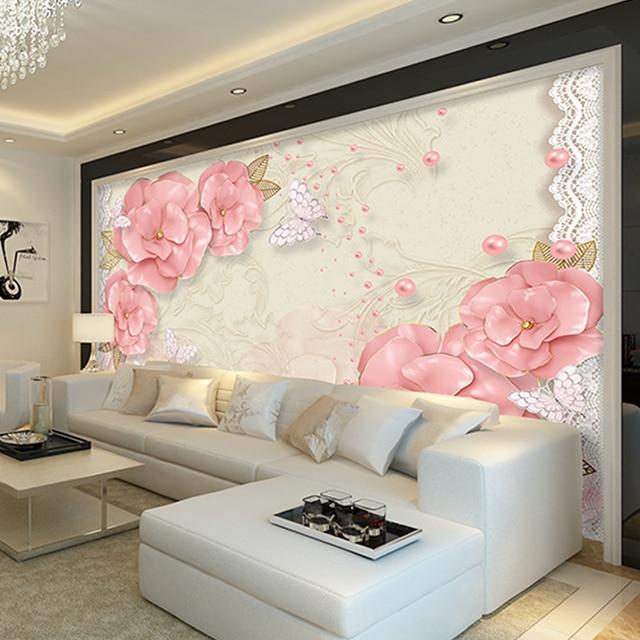 Billig Verkauf 3D tapete für wand Rose Blume Ländlichen ...