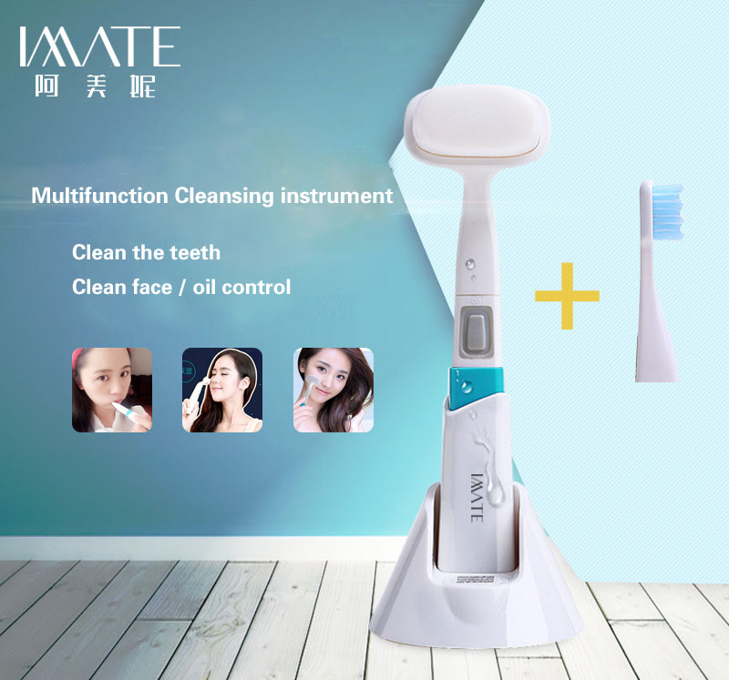 electric facial cleanser, face artifact, wash instrument, pore cleaning, facial wash device, beauty instrument, home cleanser south korea pobling electric wash face brush machine facial pore cleaner body cleaning skin massager beauty tool