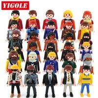 5pcs Set Original Playmobil Action Figures Summer Fun City Life Police Rande Roue Pere Noel Maison