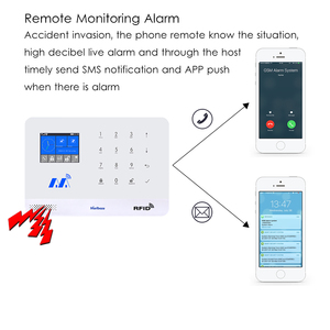 Image 2 - Marlboze Kablosuz Ev Güvenlik GSM WIFI GPRS Alarm Sistemi IOS Android APP Uzaktan Kumanda RFID Kart PIR Sensörü Kapı Sensörü kiti