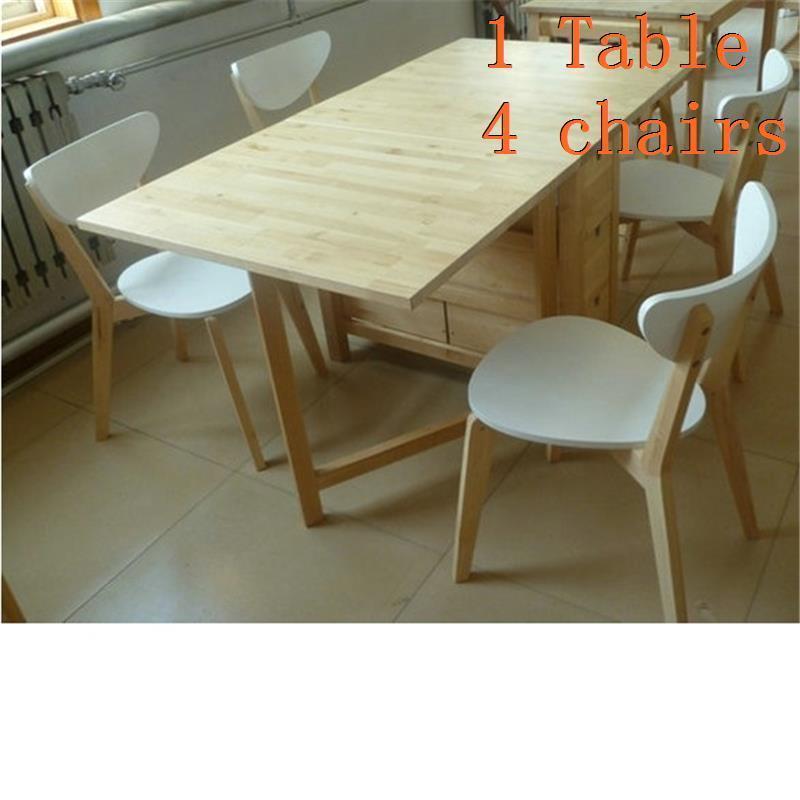 Masa sandalye eettafel a langer tavolo redonda eet tafel shabby chic wooden  folding de jantar desk mesa bureau dining table