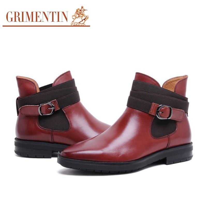 Grimentin Gesper Tali Boot Pria Kulit Asli Hitam Coklat Mens Ankle Boots  Sepatu untuk Pria Bisnis Kantor Sepatu 2019 Baru di dari AliExpress.com  71ba87cd1a