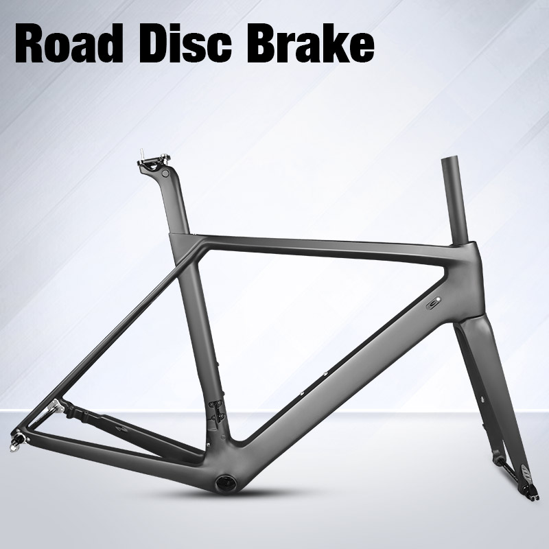 2018 NEW Disc brake Carbon Road Frame UD black Aero Chinese full carbon fiber road bike bicycle frame QR or thru axle LNR8S cheaper price cyclocross bicycle frame 160mm disc brake cx bike frame t700 full carbon fiber bicycle frame 160mm disc frame