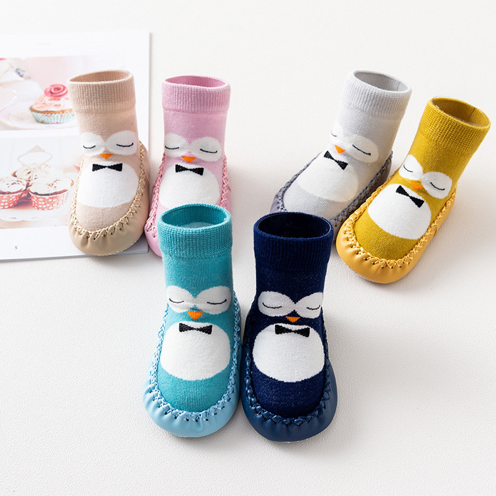 Baby Boy Girl Cartoon Cute Cartoon Penguin Shoe Toddler Shoes Socks Shoe Winter