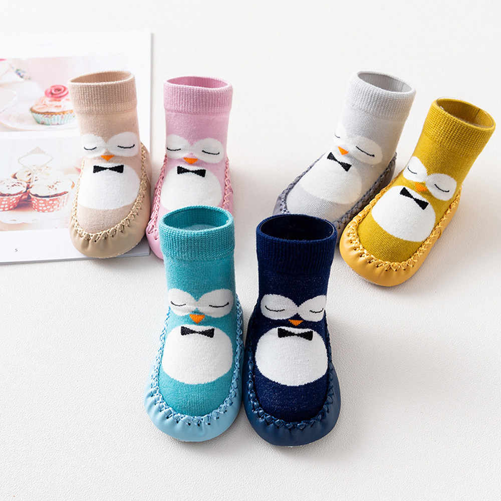 Baby Boy Girl Cartoon Cute Cartoon Penguin Shoe Toddler Shoes Socks Shoe Winter