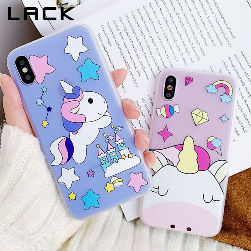 LACK Candy Color Cartoon Unicorn Phone Case For iphone XS