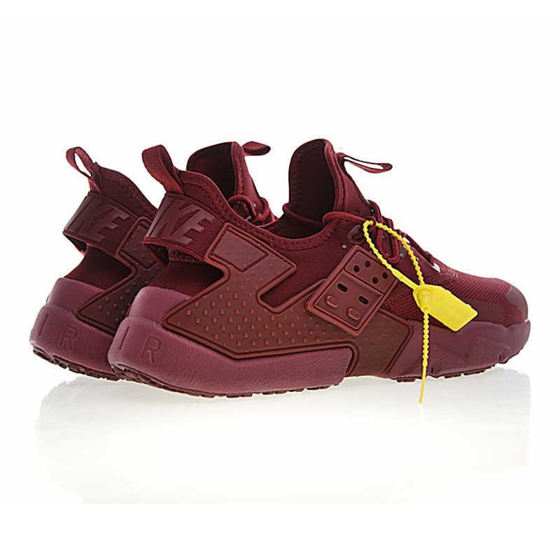 official photos 93841 1e3e2 ... Original NIKE AIR HUARACHE DRIFT PRM Men s Running Shoes, Dark Red, Wear-resistant  ...