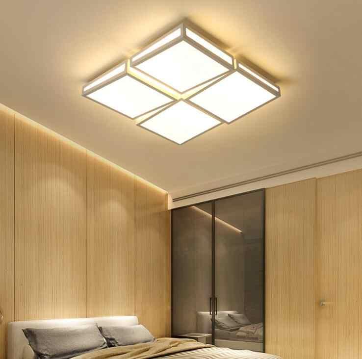 Потолочная лампа для гостиной, светодиодная креативная лампа для спальни, прямоугольный зал-гостиная, простая современная атмосфера, домашний светодиод