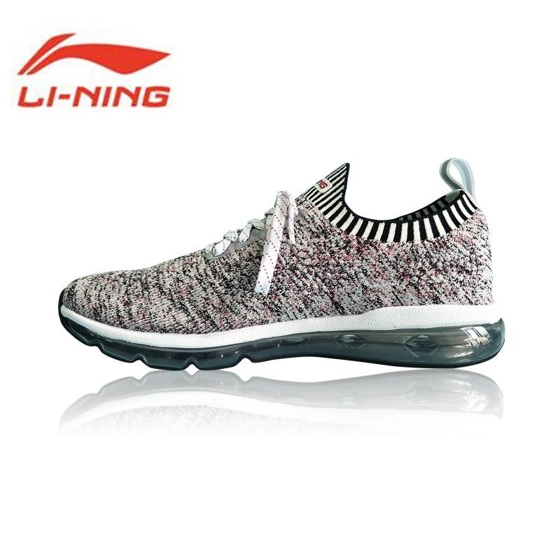 Li-Ning Men Shoes BUBBLE MAX KNIT Walking Shoes Breathable Wearable Li Ning Comfortable Sports Shoes Sneakers AGLN055 Y