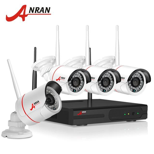 ANRAN New Listing Anran Plug and Play Wireless NVR Kit P2P 720P HD Outdoor IR Night Vision Security IP Camera WIFI CCTV System