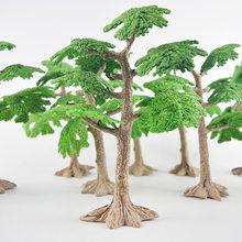 Miniatura fada jardim pinheiros mini plantas casa de bonecas decoração acessórios jardinagem ornamento