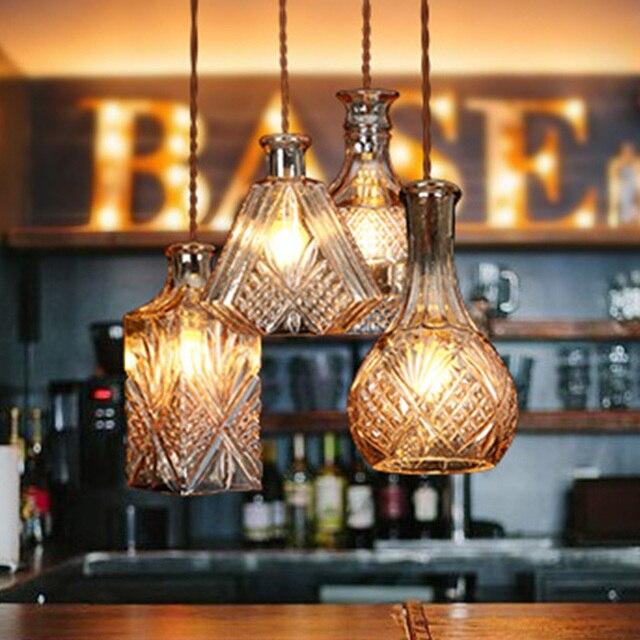 Glass pendant lamp classical indoor lighting restaurant lamps 220v glass pendant lamp classical indoor lighting restaurant lamps 220v e27 holder 12m long bar lights aloadofball Image collections