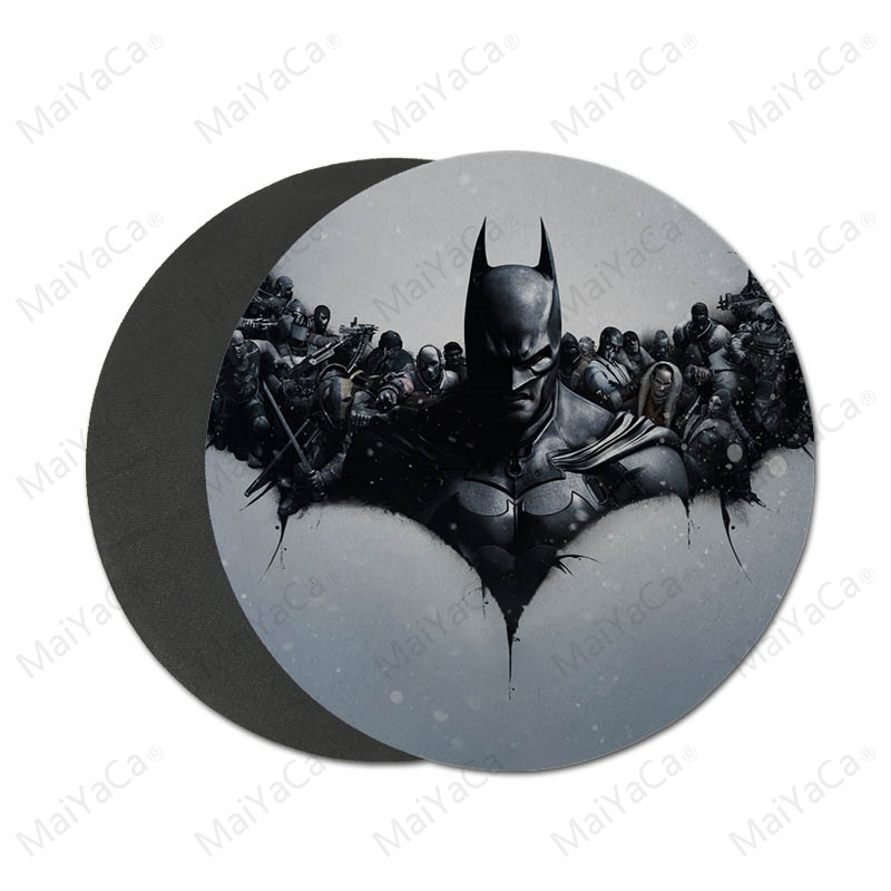 Computer & Office Maiyaca My Favorite Batman Logo Rubber Mouse Durable Desktop Mousepad Round Mouse Pad 22x22cm 20x20cm Computer Peripherals