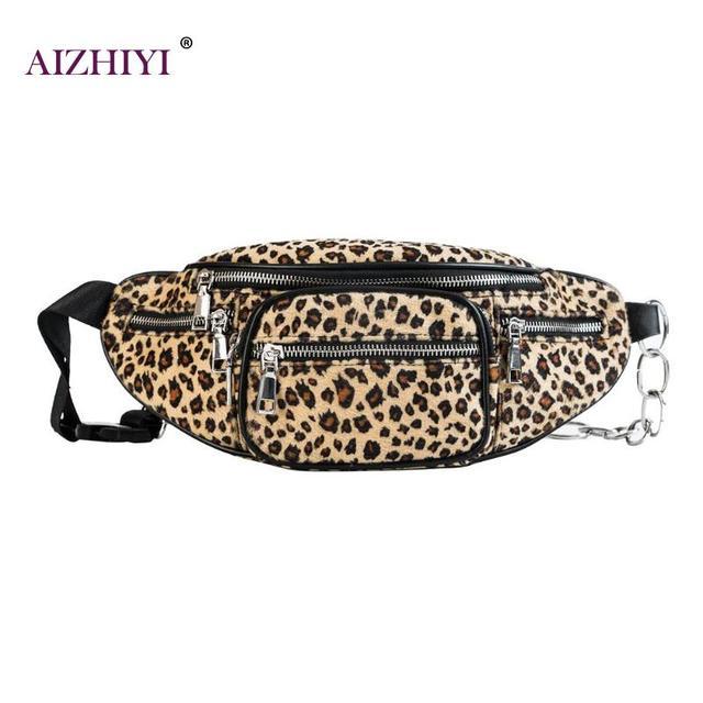 Mulheres da Cópia do Leopardo Cintura Fanny Packs de Cinto Meninas Peito Ocasional Saco de Moda Feminina Bolsas Saco Crossbody Ocasional 2018 Novo