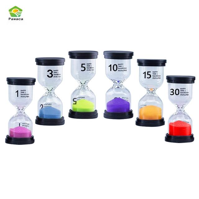 US $19 13 33% OFF|Six Pcs/set 1min 3min 5min 10min 15min 30min Fine Gretive  Glass Hourglass Timer Living Ornaments Glass Hourglass Birthday Gifts-in