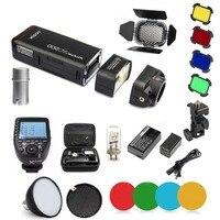 Godox AD200 2.4G TTL Flash 1/8000 HSS Monolight + XPRO C Trigger for Canon + AD S2 Standard Reflector + AD S11 Filter Gel Pack