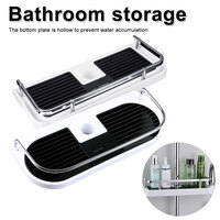 Bathroom Shelf Shower Storage Rack Holder Shampoo Bath Towel Tray Home Bathroom Shelves Single Tier Shower Head Holder