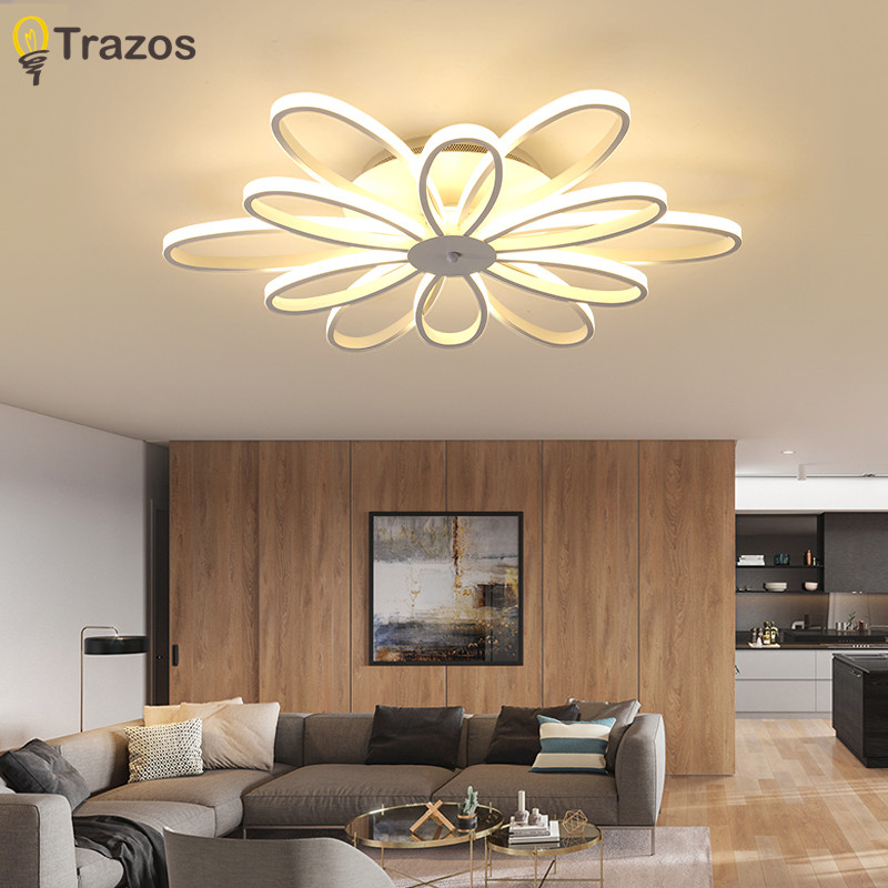 TRAZOS Modern LED Ceiling Lights for living room Bedroom Ceiling Lamp Fixture Acrylic ceiling lights remote controlling Lighting