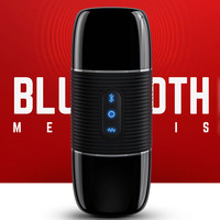 3D Bluetooth Speaker masturbation cup male masturbator realistic vagina vibrating real pussy usb sex machine sextoys for men
