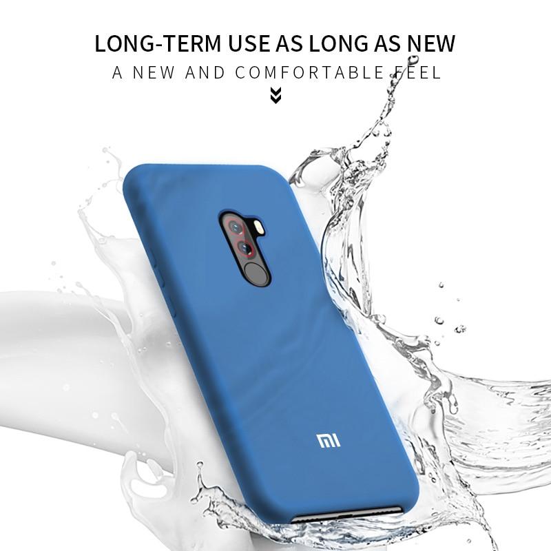 Image 5 - Xiaomi mi Pocophone F1 Case Original Silicone Soft Cover Xiaomi Mi 9T A2 A3 Lite 8 9 SE Redmi Note 8 7 6 5 K20 Pro 7A 8A Case-in Fitted Cases from Cellphones & Telecommunications