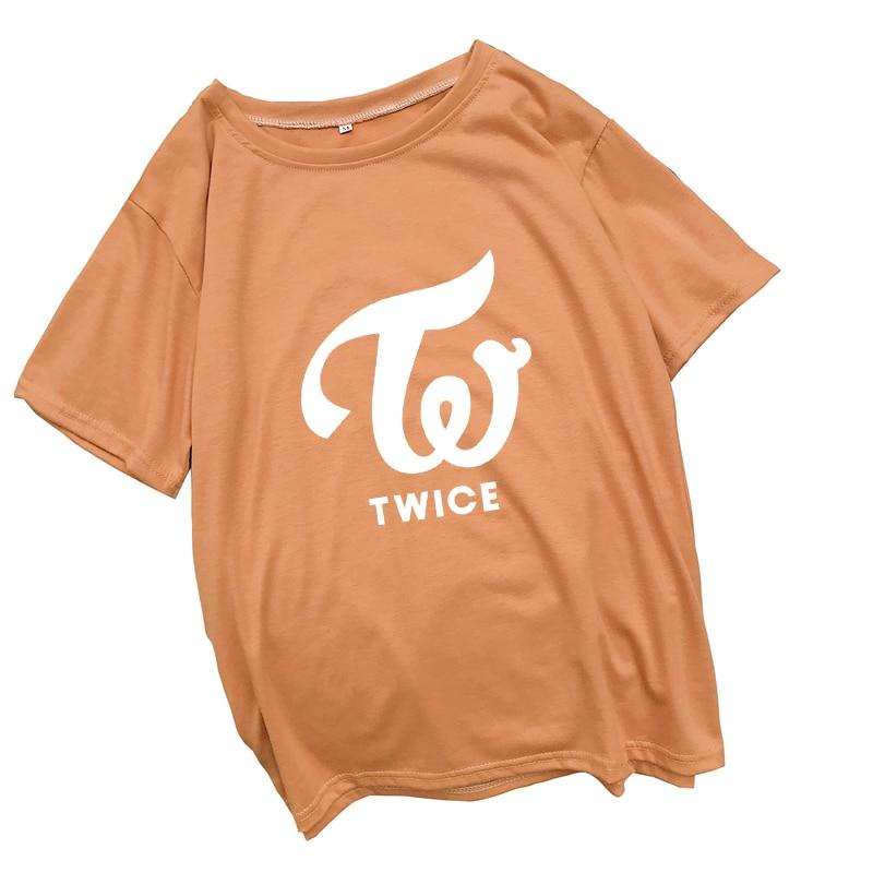 Harajuku TWICE Letter Print T Shirt Women Korean Kpop Tumblr Female T-shirt Fashion Streetwear Casual Loose Tops Tee Shirt Femme