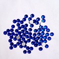 Free Shipping Nail Art Rhinestone Sapphire Color SS6(1.9-2.0mm) 1440pcs/pack Non Hotfix Flatback Crystal Stones