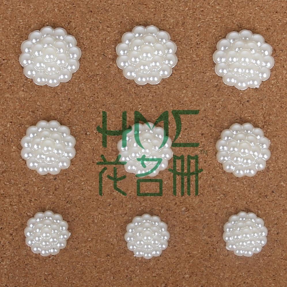 60-150 шт./пакет плоской задней кабошон Imatation Пластик ABS жемчужные головы Будды цветок для DIY бусины ремесло телефон украшения