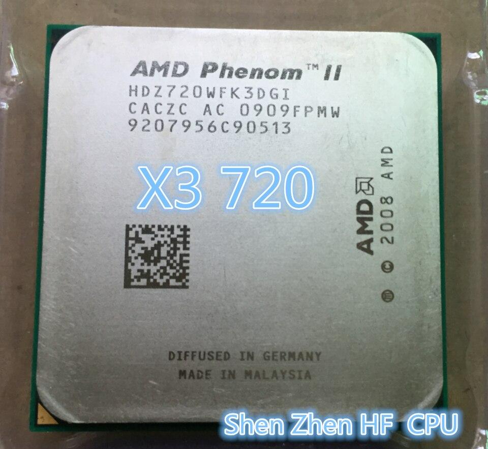 AMD Phenom II X3 720 X3 720 Triple Core 28Ghz 6M 95W