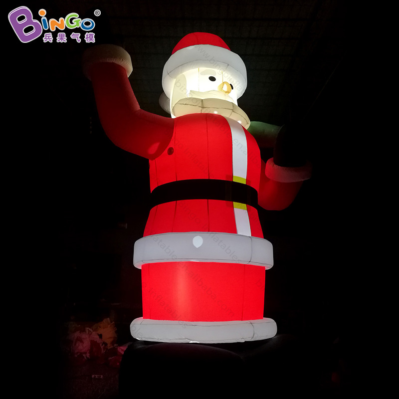 Free shipping 6 meters tall inflatable christmas santa claus with LED lighting blow up christmas santa for display toys giant christmas inflatable 5m high inflatable christmas santa claus cartoon for outdoor party events festival toy