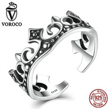 Fashion patry accessories crown retro 925 sterling silver ring