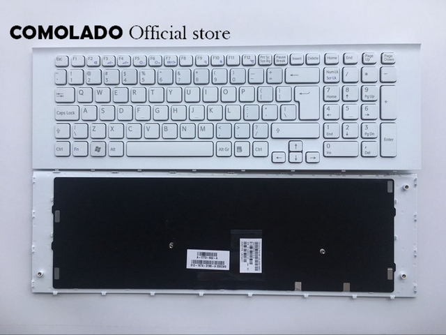 UI Keyboard for Sony VAIO VPC-EC VPCEC Series white white frame Keyboard UI Layout